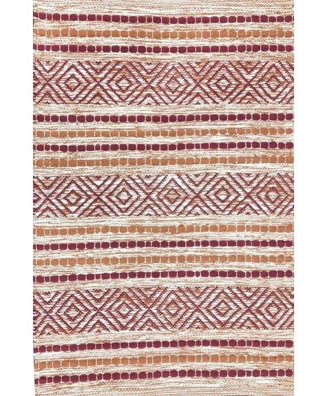 Tapis coton Fusion rouge  (2'x3'; 60x91cm)