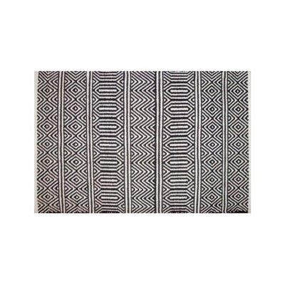 Avocado Decor Tapis coton - Géo noir - 2x3