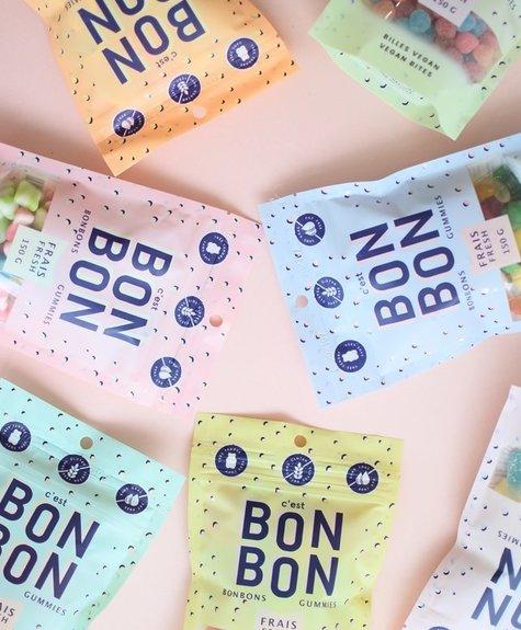La boîte à bonbons Bonbons -  Billes aux fruits Vegan 150gr