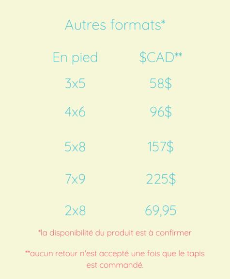 Tapis coton Flèche  (2'x3'; 60x91cm)
