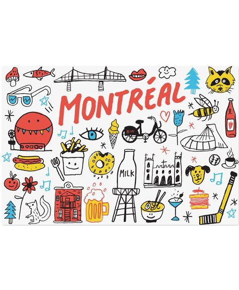 Paperole Best of Montreal postcard