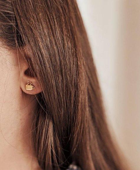 Boucles d'oreilles -  Tasse de Café or
