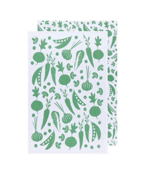 Danica Floursack Dishtowels Set of 2 - Greens