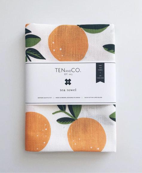 Linge à vaisselle - Oranges