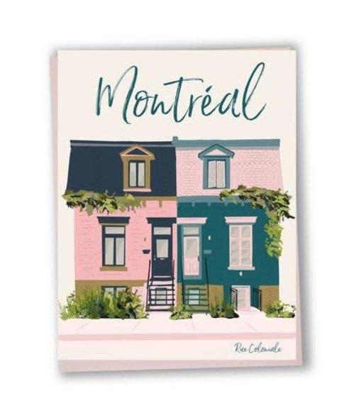 Lili Graffiti Façade Coloniale Montréal - Carte de souhaits