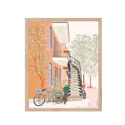 Lili Graffiti Affiche  - Bicyclette Automnale