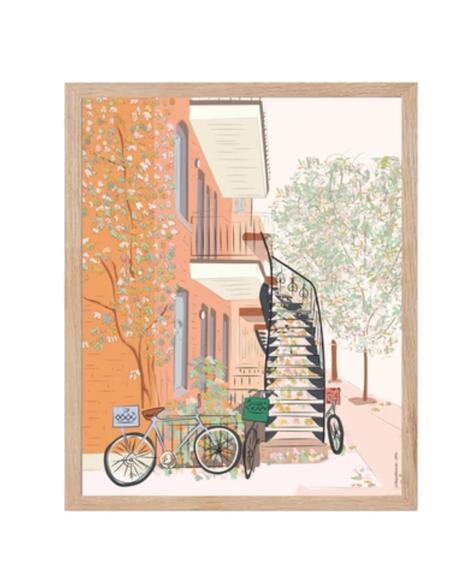Lili Graffiti Autumnal bicycle Poster