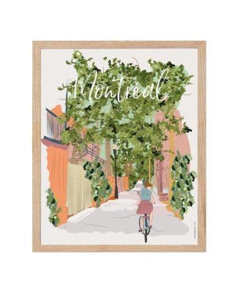 Affiche Lili - Ruelles vertes de Montréal