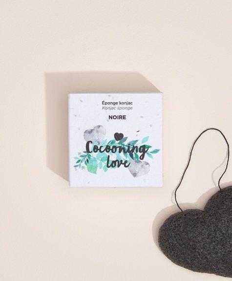 Cocooning Love Black Konjac Sponge - Charcoal infused