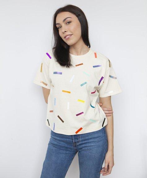 Tshirt Confettis - Crème