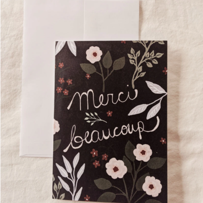 Mimi - Auguste Merci beaucoup - greeting-card