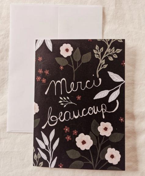 Mimi - Auguste Merci beaucoup - Carte de souhaits
