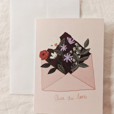 Mimi - Auguste Que du love - greeting-card