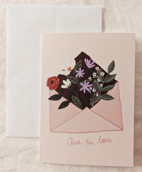 Mimi - Auguste Que du love - Carte de souhaits