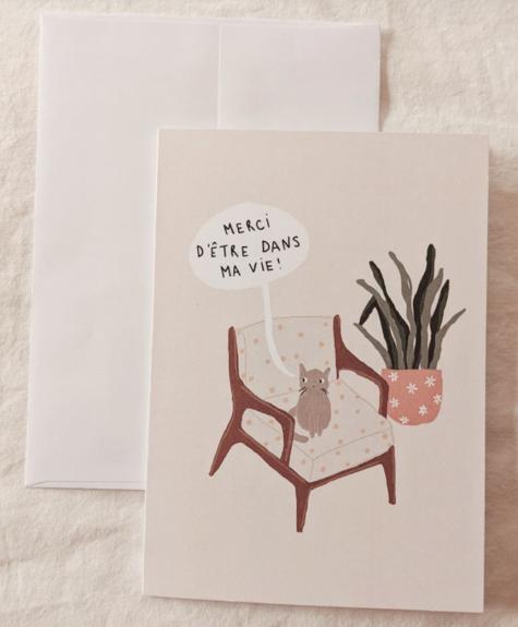 Carte Mimi - Merci chat