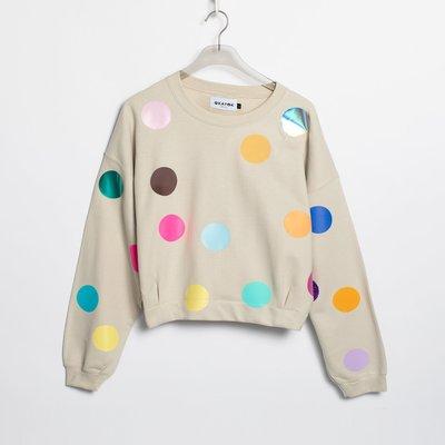 OKAYOK Sweatshirt Big dot - Sand