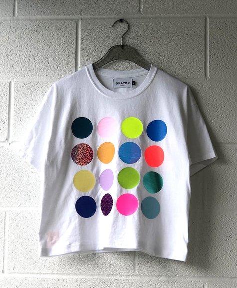 OKAYOK Tshirt Polka dots - White