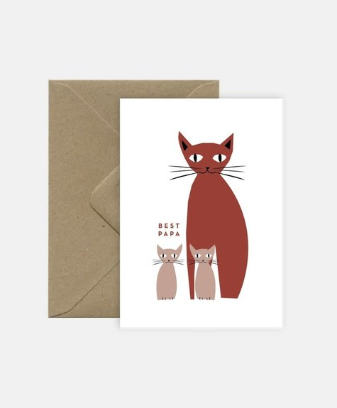 Michoucas Papa Chat - Greeting card