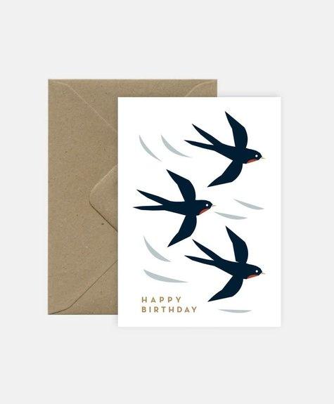 Michoucas Hirondelles - Carte de souhaits