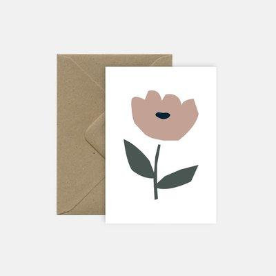 Michoucas Carte MD Roses Trémière