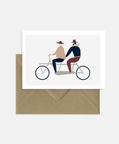 Michoucas Love tandem - Carte postale