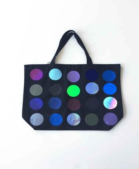Large Totebag polka dots - Noir