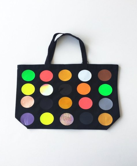 OKAYOK Large Totebag polka dots - Black