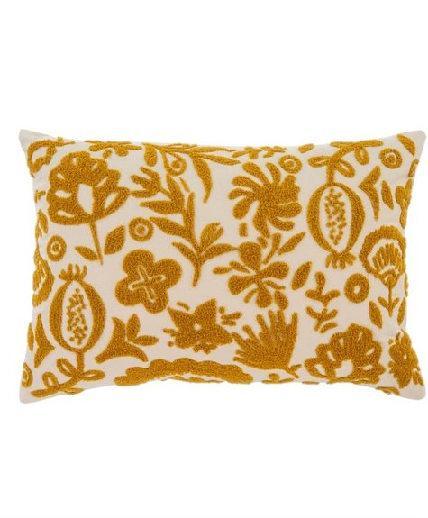 Coussin New Guinea - Ocre