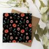 Carte Florale noire - Flafla
