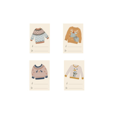 Lili Graffiti Gift tags - Sweaters (8)