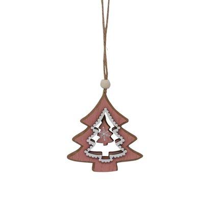 Nostalgia Orna. Pink Christmas Tree