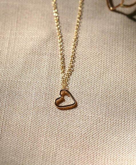 Côte Ouest  14k Gold Heart Necklace - Cote Ouest