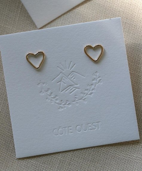 Côte Ouest  14k Gold Heart Earrings - Cote Ouest
