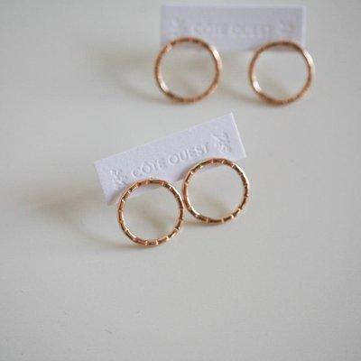 Côte Ouest Circle earrings - Gold 14k