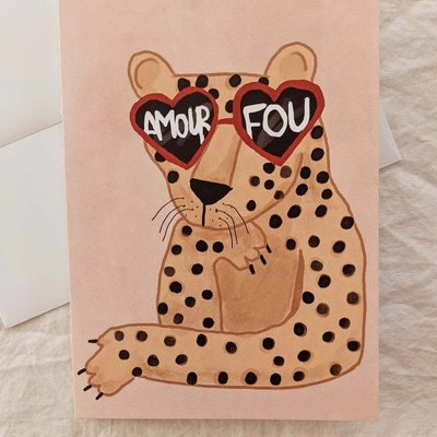 Mimi - Auguste Crazy in love - Greeting card