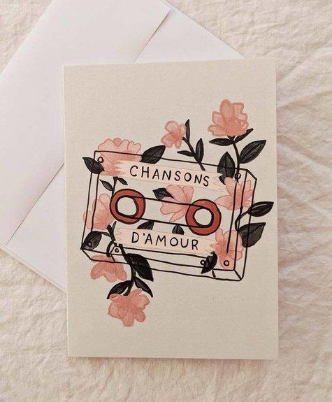 Mimi - Auguste Love songs - Greeting card