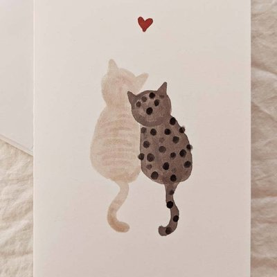 Mimi - Auguste Purrfect Love - greeting-card