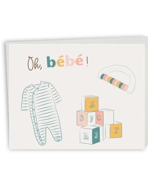 Lili Graffiti Oh, Baby - Greeting card