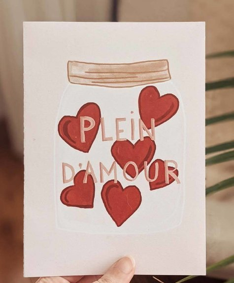 Mimi - Auguste Jar full of love - Greeting card
