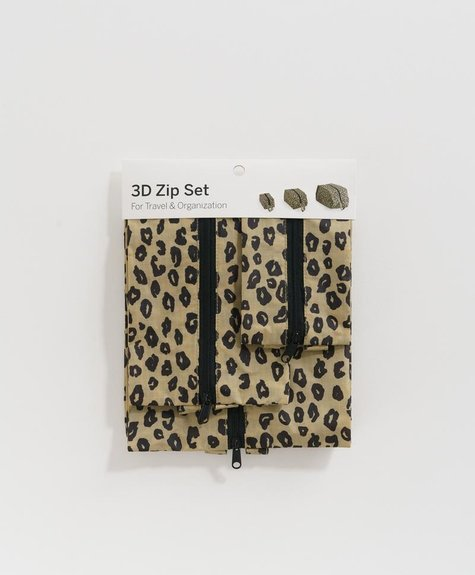 Baggu Baggu 3D zip pouch set - Honey Leopard