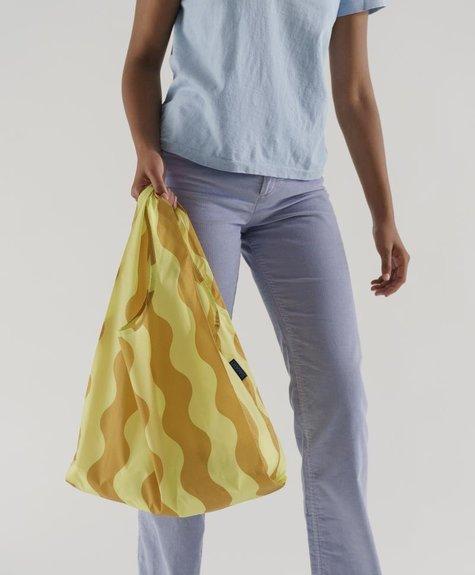 Baggu Reusable Baggu bag -  Yellow and Gold Wavy Stripe