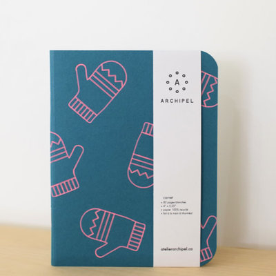 Atelier Archipel Mini notebook - Teal Mitaine white