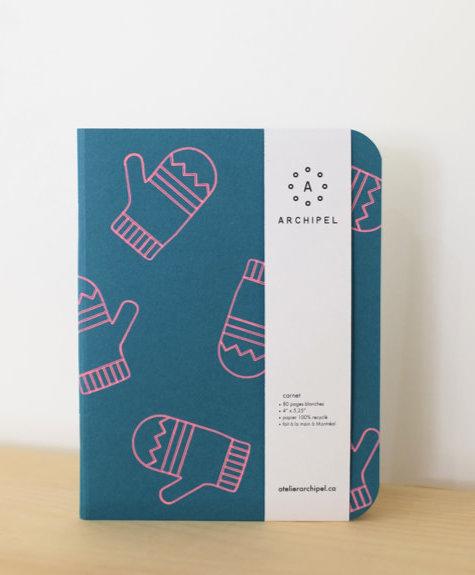 Atelier Archipel Mini notebook - Teal Mitaine white