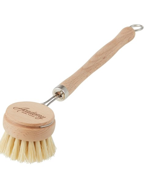 Rechargeable wooden dish brush  with handle