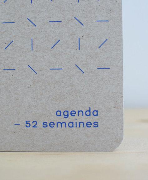 Atelier Archipel Agenda Naturel + bleu