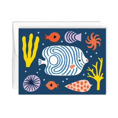 Paperole Greeting Card - Seabed