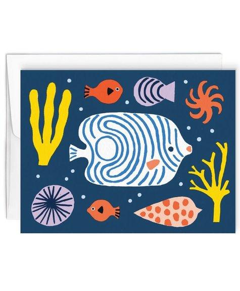 Paperole Fond marin - Carte de souhaits