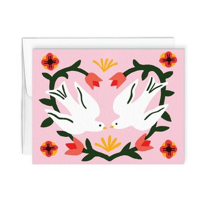 Paperole Greeting Card - Love birds
