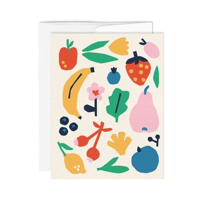 Paperole Greeting Card - Fruits