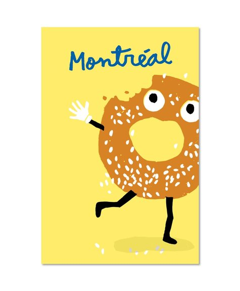 Paperole Post Card - Bagel